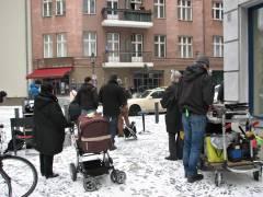 """""""Filmschnee"""" in der Neufertstraße"""