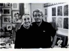 Helmut Newton und Carla Sozzani (1999) /  Foto © Lorenzo Camocardi