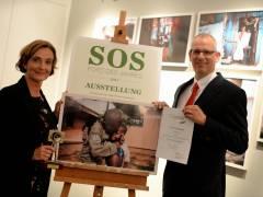 Präsentation der preisgekrönten Fotos bei SOS Kinderdörfer weltweit in der Charlottenburger Gierkezeile / Foto © Frank May