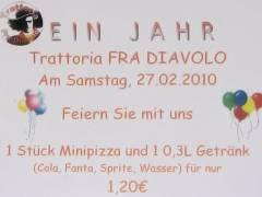 Trattoria Fra Diavolo feiert 1-jähriges Jubiläum