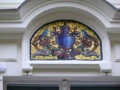 Hausfassade in der Gardes-du-Corps-Straße