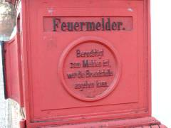 Historischer Feuermelder - Weihnachtsmarkt vor dem Schloß Charlottenburg 2007