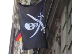 Piratenflagge in der Neufertstraße