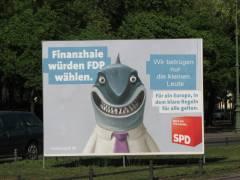 Wahlplakat am Spandauer Damm - wahr oder Satire?