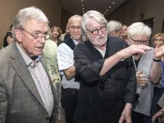 Johann Manfred Kleber im Gespräch mit Matthias Koeppel in der Galerie Hulsch / Foto © Frank Wecker