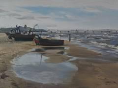 """Strand Ahlbeck"" 2009 - Öl auf Leinwand 50 x 70 cm / Foto © Galerie am Savignyplatz"