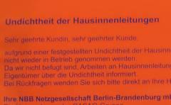 Gasrohr-Sanierung in der Nehringstraße - Warnhinweis bei Mängeln nach Prüfung
