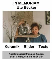 In Memoriam Ute Becker - Ausstellung in der Charlottenburger Galerie des Fantom e.V.