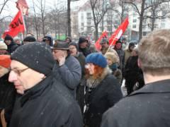 """Gedenken an Otto Grüneberg vor der """"Kastanie"""" Februar 2012 / Foto © J. Neu"""