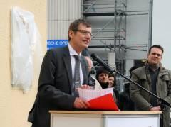 Der Historiker Dr. Wörmann hält die Hauptrede
