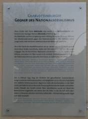 Gedenktafel f&uuml;r Charlottenburger Gegner des Nationalsozialismus
