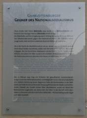 Gedenktafel für Charlottenburger Gegner des Nationalsozialismus
