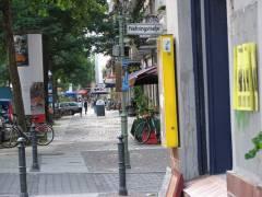 Breiter Bürgersteig der Seelingstraße zwischen Nehringstraße und Danckelmannstraße