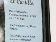 """Restaurant """"El Castillo"""" Danckelmannstraße 1"""