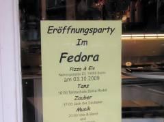 Eröffnunsparty im Eiscafé Fedora
