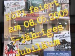 Köpi in der Neufertstraße feiert 5-jähriges Jubiläum - nicht nur mit diesem Plakat ;)