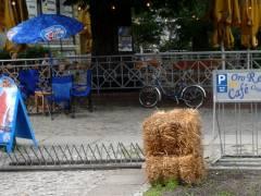"""Vor der """"Oro Bar"""" in der Seelingstraße"""
