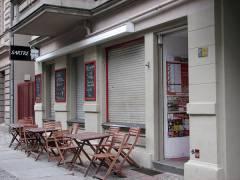 Das Café Sartre in der Knobelsdorffstraße 34
