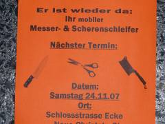 Der mobile Messer- & Scherenschleifer
