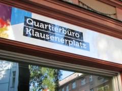 """""""Quartierbüro"""" der landeseigenen Wohnungsbaugesellschaft Gewobag im Klausenerplatz-Kiez"""