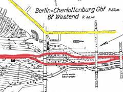 Gleisplan (1964) nach einer Vorlage des Reichsbahnamtes (RBA4 Berlin West) / Bildquelle Sammlung Ytracks