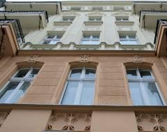 Hausfassade in der Seelingstraße