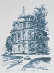 Belvedere - unweit der Wege an der Spreeseite, im Nordteil des Schlossparks gelegen, war es zu Kriegsende eine Ruine. Hier fand ich in den Kindertagen die von meiner Mutter zuvor versteckten Ostereier