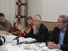"""Auftaktpressekonferenz der Volksinitiative """"Unsere Schule"""" / Foto © Frank Wecker"""