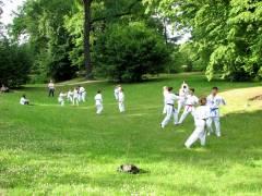 Judo-Training im Schloßpark Charlottenburg