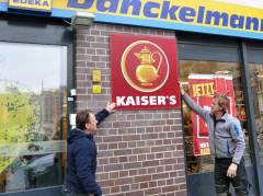 Abschied von Kaiser's (lachender) Kaffeekanne