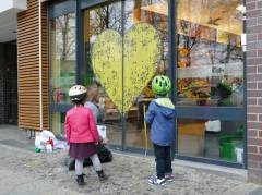 Neue Edeka-Filiale am Klausenerplatz - Umgestaltung der Eingangtür