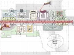 Entwurf für das Gebäude der Kantgaragen (Erdgeschoß) / Foto © Nalbach + Nalbach Gesellschaft von Architekten mbH