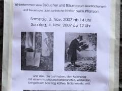 Pflanzaktion im Ziegenhof  - November 2007