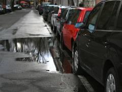 Überschwemmungen in der Neufertstraße