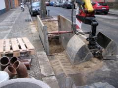 Kanalarbeiten in der Neufertstraße - 25./26. März 2009