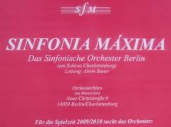 """Das""""Sinfonische Orchester Berlin Sinfonia Maxima"""" sucht weitere Musiker"""