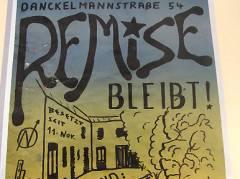 Plakat aus der Kiezer Hausbesetzer-Zeit