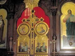 Ikonostase in der Christi-Auferstehungs-Kathedrale am Hohenzollerndamm