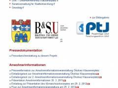"""""""Projektergebnisse"""" vor Eintreffen des Klimaschutzmanagers (Screenshot von der Webseite des Bezirksamts Charlottenburg-Wilmersdorf)"""