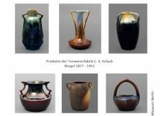 Produkte der Tonwarenfabrik C. A. Schack / Fotos © Heinz-J. Theis - Keramik-Museum Berlin