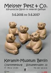 Drehkopffigur Bär - Heiner Hans Körting (Entwurf 1960er Jahre), Ulrich Körting (Ausführung) / Foto © KMB - H.-J. Theis