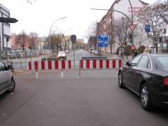 Sperrung der Knobelsdorffstraße November 2011