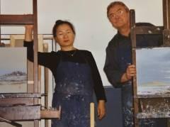 Sooki und Matthias Koeppel im Atelier - Foto © Koeppel