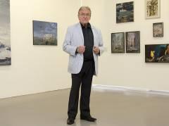 Matthias Koeppel in der Kommunalen Galerie / Foto © Frank Wecker