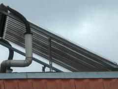 Kiezer Haus mit Sonnenkollektoren