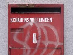 Briefkasten für Schadensmeldungen