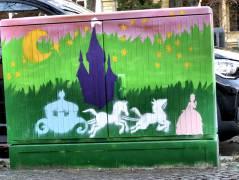 Straßenkunst auf dem Verteilerkasten in der Schloßstraße