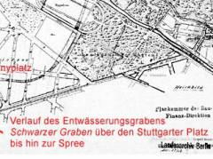 Übersicht des Bebauungsplanes der Umgebungen Berlins, 1862 / Foto © Landesarchiv Berlin und Senatsverwaltung für Stadtentwicklung und Umwelt