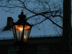 Warmes Licht im kalten Winter
