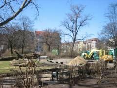 Arbeiten auf der Schillerwiese